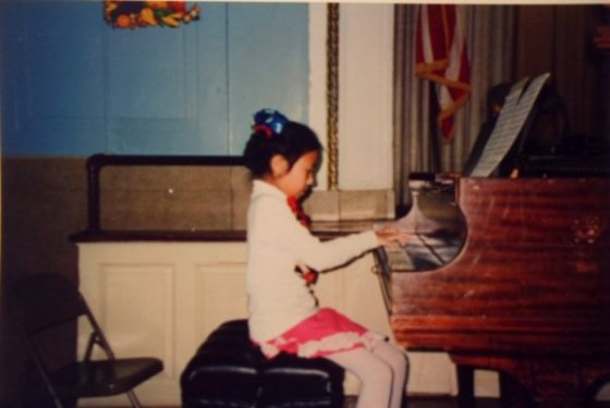 Performing in my elementary school, P.S. 200 in Bensonhurst, Brooklyn.